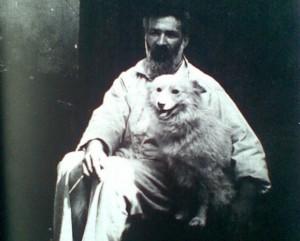 Brancusi-Autoportret-1927 cu Polar, cainele lui