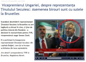 Semen Zsolt Tinutul Secuiesc Bruxelles TVR