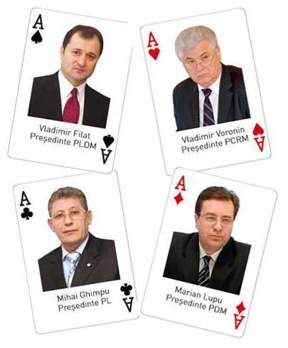 Filat-Ghimpu-Voronin-Lupu-KGB Carti de Poker in Cacealmaua ruseasca