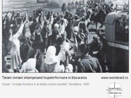 Tarani intampinand Trupele Romane in Basarabia 1941