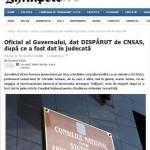 GHIMPELE: Oficial al Guvernului, dat DISPĂRUT de CNSAS, după ce a fost dat în judecată de Corneliu Turianu