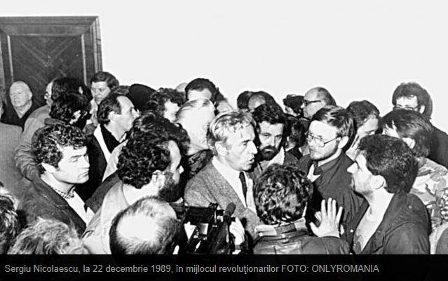 Sergiu Nicolaescu la revolutie in CC al PCR 22 decembrie 1989