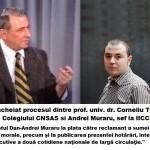 Presedintele IICCMER Andrei Muraru, condamnat de Instanta pentru minciuna cu scop de dezinformare si manipulare a opiniei publice in cazul secretarului Colegiului CNSAS, Corneliu Turianu