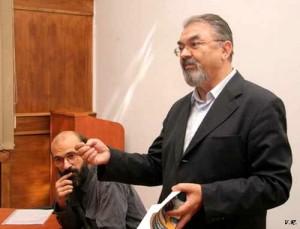 Virgiliu Gheorghe si Ilie Badescu la Sociologie - Foto Victor Roncea