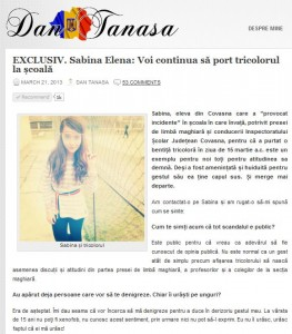 Dan Tanasa - Sabina Elena - Ziaristi Online