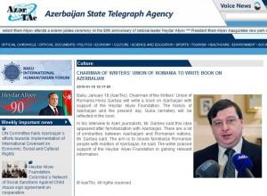 Horia Garbea la Azer Tag sponsorizat de Heydar Aliyev