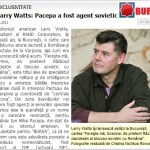 Pacepa, spulberat definitiv de Larry Watts. Despre defectarea agentului KGB, din toaleta Catedralei din Köln, pana in cele ale agentilor FBI si CIA pacaliti ca la Academia de Inselaciune. CAPITOL INTEGRAL via ZIARISTI ONLINE