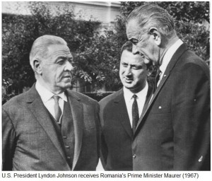 President Lyndon Johnson - Gheorghe Maurer Romania 1967 via Ziaristi Online