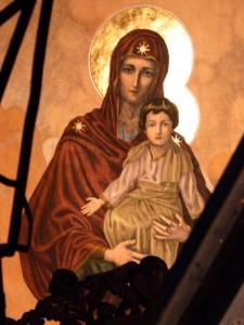 Parintele-Arsenie-Boca-Maica-Domnului-cu-Iisus-in-Zeghe-la-Biserica-Elefterie-Bucuresti Foto M. Filotheu