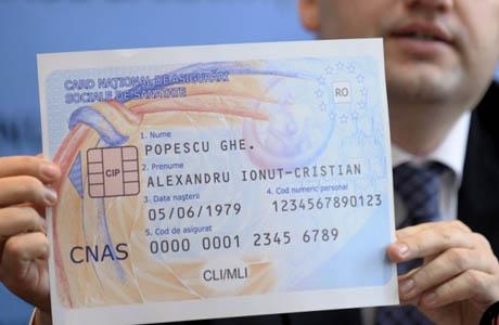 Cardul de sanatate cu cip anti-Romania