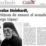 Gazeta de Maramures: Părintele Nicolae Steinhardt, Cetăţean de Onoare al oraşului Târgu Lăpuş