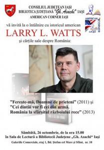 Larry Watts la Biblioteca Judeteana Ghe Asachi din Iasi 2013