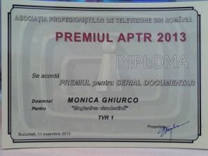 Premiul APTR 2013 pentru Monica Ghiurco - Larry Watts - Mostenirea Clandestina TVR1