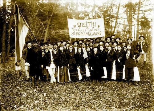 Galtiu Romania Mare Fotografie de Samoila Marza 1 Decembrie 1918
