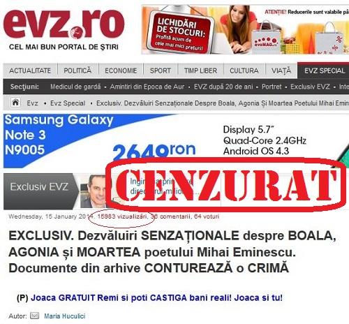 EvZ l-a cenzurat pe Constantin Barbu despre Manolescu de ziua lui Eminescu