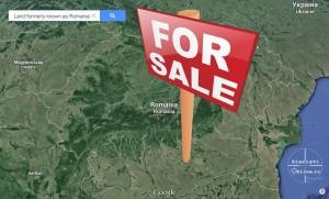 Romania de vanzare - pamant de vanzare - teren de vanzare pentru straini - land for sale - Google Earth