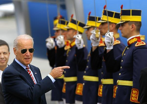 Joe Biden at Bucharest Foto EPA