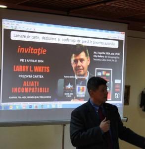 Larry Watts lansare de carte Aliati incompatibili