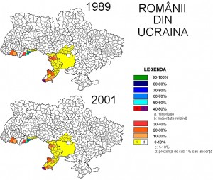 Romanii din Ucraina - Romanians in Ukraine - Harta - Map - Ziaristi Online via Vlad Cubreacov