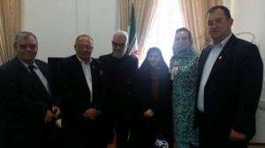 Sorin Rosca Stanescu si Corneliu Vlad la Teheran, MAE, aprilie 2014, Min Adj Marzieh Afkham
