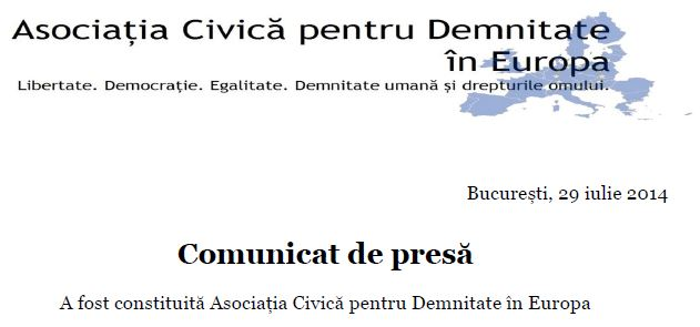 Asociatia Civica pentru Demnitate in Europa - Dan Tanasa