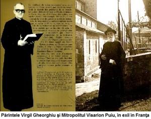 Pr Virgil Gheorghiu - Dieu a Paris coperta si Mitropolitul Visraion Puiu in Franta