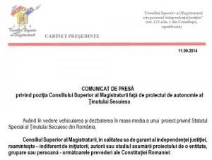 CSM Tinutul Secuiesc Autonomie UDMR Anti-Romania