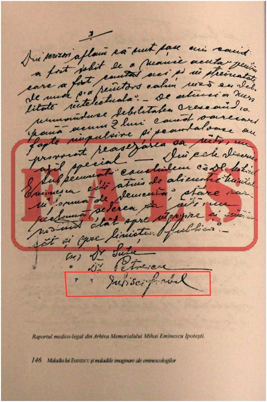 Fals Raport Medico Legal Eminescu - Eugen Simion 3