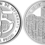 SRI, monedă de argint şi timbru aniversar, la 25 de ani de la înfiinţare