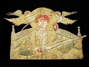 Sfantul Gheorghe pe Steagul de Lupta al lui Stefan cel Mare si Sfant