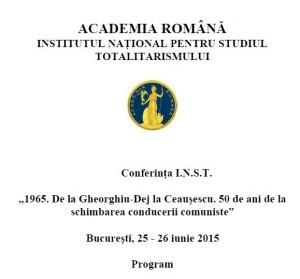 Academia Romana - INST - Dej - Ceausescu 1965 - 2015