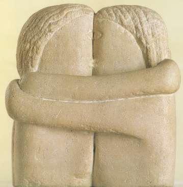 Constantin Brâncuşi: Sărutul, 1907 Muzeul de Artă Craiova