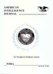 American Intelligence Journal about Larry Watts and Romania