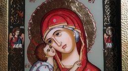 Icoana Maica Domnului cu Pruncul - Elena Constantin