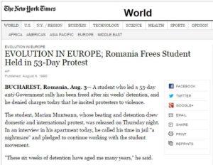 New York Times Marian Munteanu