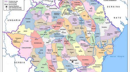 Romania Mare Harta Map Great Romania in NATO OTAN