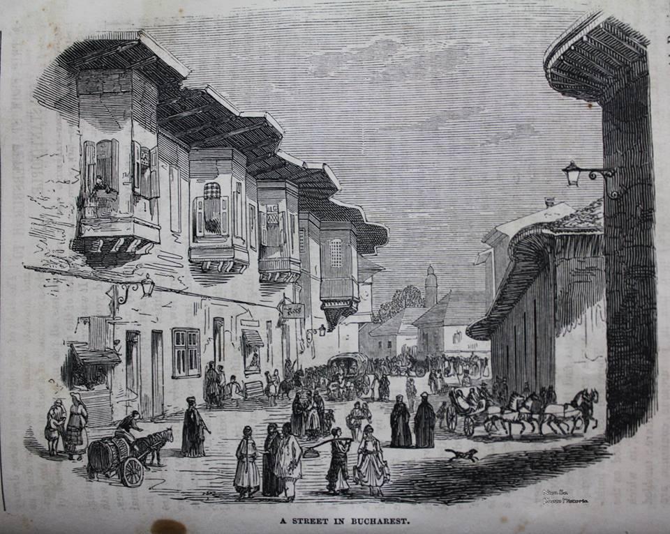 Strada in Bucuresti - National Magazine 1854 - Photo Historia via Ziaristi Online